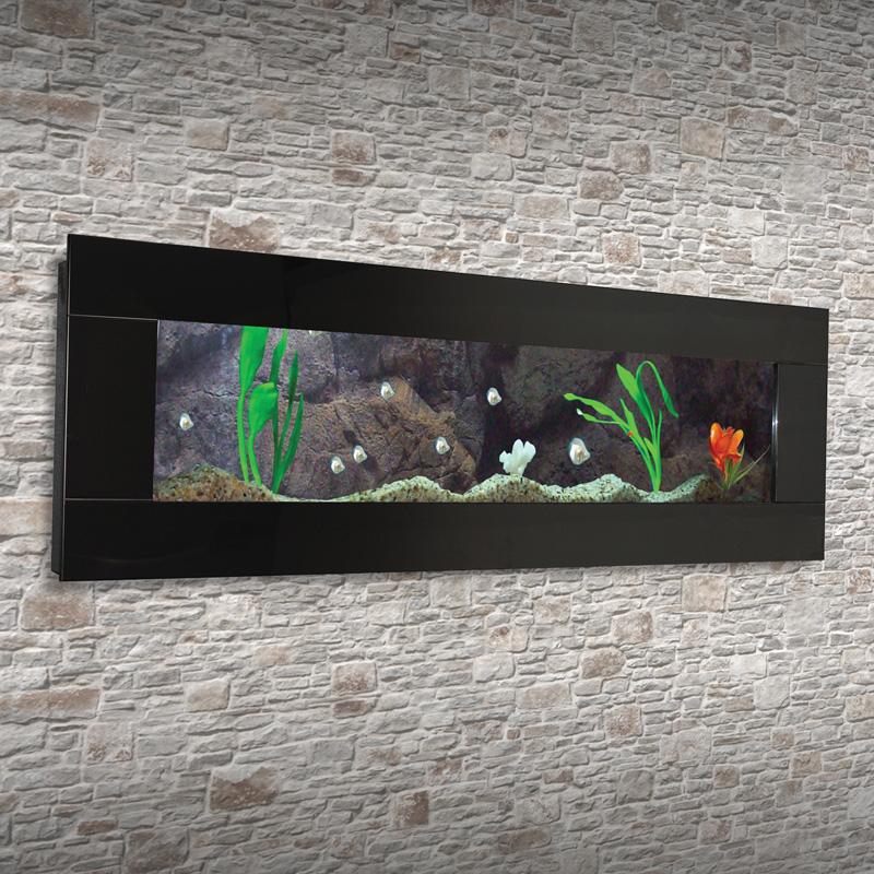 Wandaquarium Aquarium Nano Becken Wand Aquarium Komplett Set Schwarz   eBay