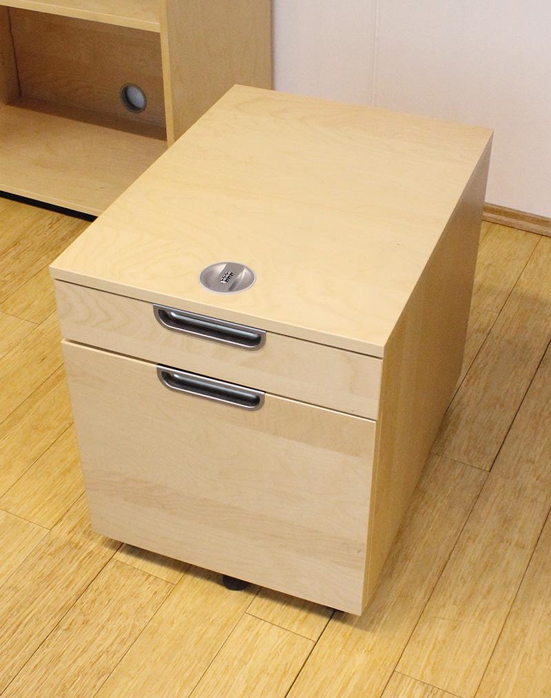 Ikea Galant Rollcontainer Schubladenelement Fur Hangemappen Birke